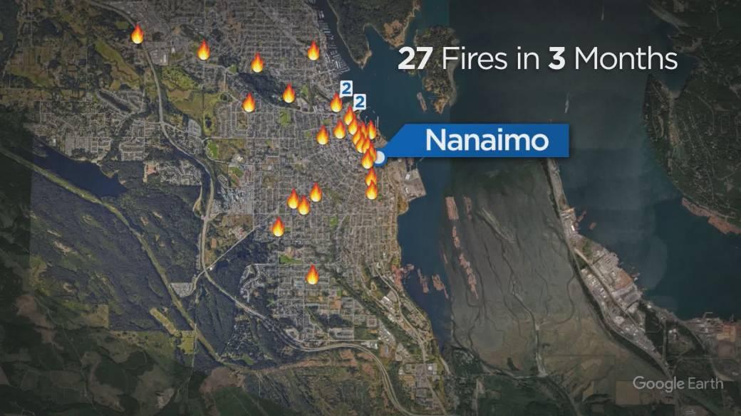 'Downtown Nanaimo struggles with arson spree'