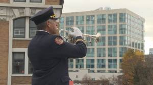 Remembrance Day 2019: Trumpeters play mournful 'Last Post'