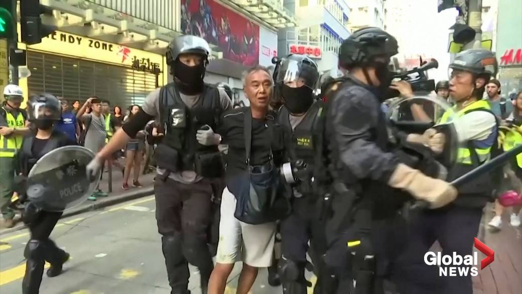 Hong Kong police say homemade, remote-controlled bomb targeted officers