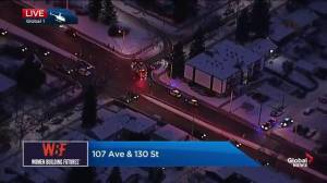 Pedestrian seriously injured in collision on 107 Avenue in central Edmonton