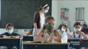 Students in elementary school to wear masks in class in Quebec red zones (02:12)