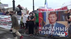 Thousands protest against Kremlin in Russia's far east for fourth weekend