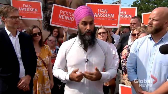 NDP Leader Jagmeet Singh stops in Barrie ahead of 2019 federal election