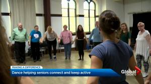 Free dance classes through Zoom for people living with Parkinson's disease (02:30)