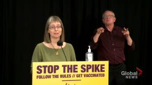 Alberta to use immunization rates and COVID-19 case rates to plan reopening (00:53)