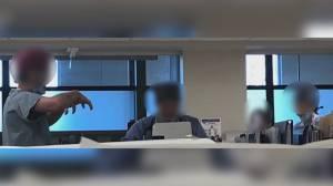 Patient photographs hospital staff without masks (02:03)