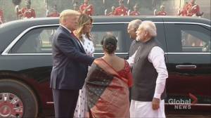 Trump welcomed to India's presidential palace