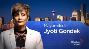 Global News projects Jyoti Gondek as next mayor of Calgary (01:37)