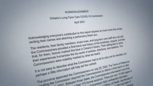 Ontario long-term care commission releases final report (04:13)
