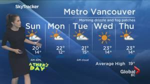 B.C. evening weather forecast: June 20