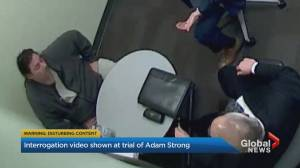 Video statement by Adam Strong shown at murder trial