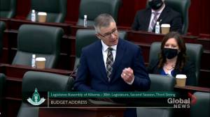 Alberta budget 2021 includes $1.25B COVID-19 contingency provision (01:52)