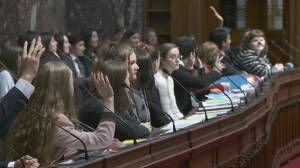 Young people from across B.C. take over legislature during the holiday break
