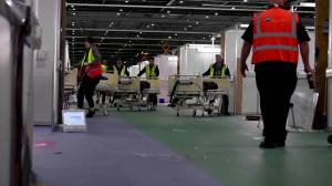 Coronavirus outbreak: London exhibition center transformed into COVID-19 field hospital