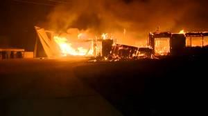New wildfire breaks out in San Bernardino, California destroying homes