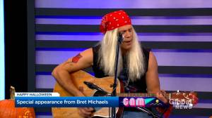 'Bret Michaels' A.K.A Antony Robart joins Global News Morning for a special Halloween performance