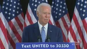 Coronavirus outbreak: Joe Biden 'disturbed' by Trump's celebration of latest unemployment report