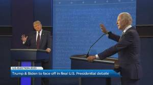 US election: What to watch for in the final Trump-Biden presidential debate (02:12)