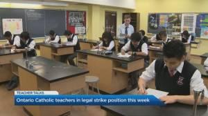Ontario Catholic teachers take a legal strike position