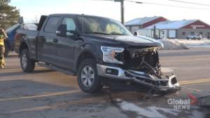 1 injured in collision between pickup trucks on Hwy. 7 east of Peterborough
