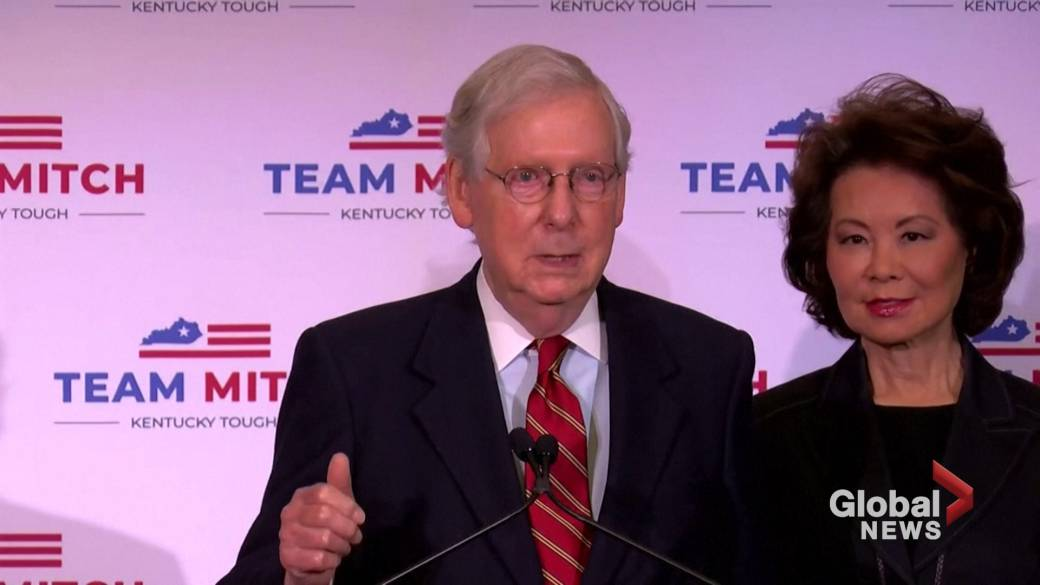 Click to play video 'Coronavirus: U.S. Senate Leader McConnell says he wants COVID-19 aid bill by year's end'