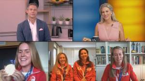 Canada's women's eight rowing team talks their journey to the podium (11:08)