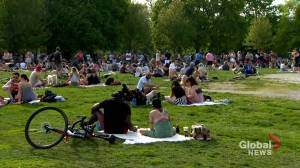 Coronavirus outbreak: Thousands gather in Toronto park