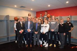Trades students create new locker room for Okanagan College Coyotes