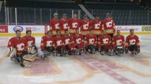 Calgary Flames sponsor local sledge hockey team for prestigious U.S. tournament