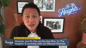 Director Jon M. Chu on his new film 'In The Heights' (02:19)