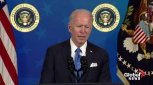 Biden says surplus COVID-19 vaccines to be shared after Americans get them first (02:12)