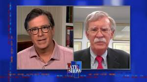 'How could you be naive?': Stephen Colbert calls out John Bolton