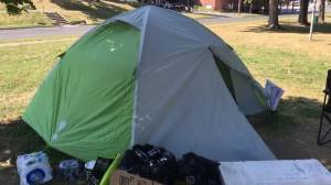 Tent City evictions  in Victoria Park in Peterborough