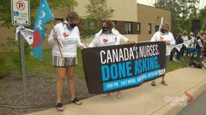 Nurses hold day of action to call attention to staffing shortages (02:04)