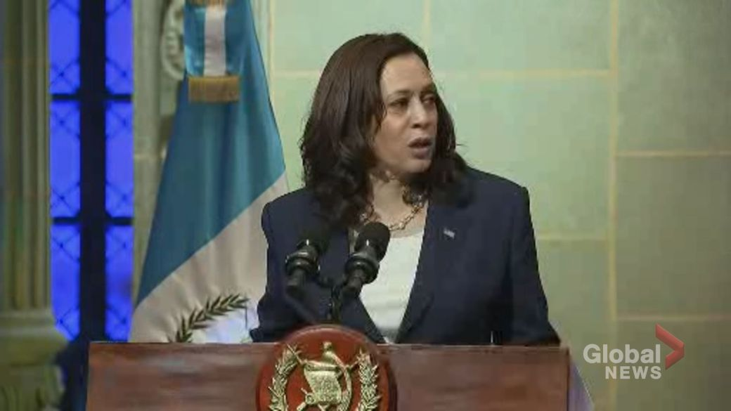 Click to play video: 'VP Harris outlines plan to stem migration from Guatemala to U.S.'