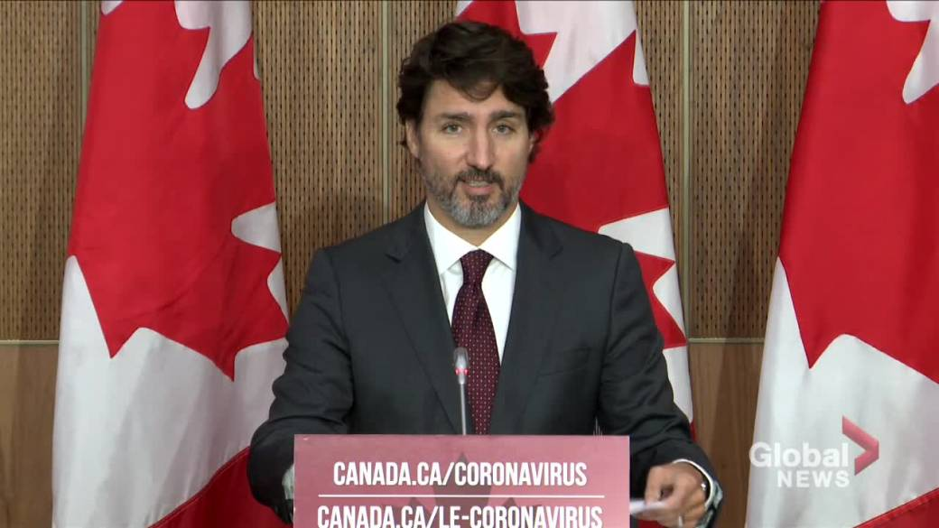Click to play video 'Coronavirus: Trudeau says over 240,000 Canadians applied for new CRB'