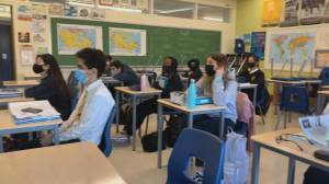 Mixed emotions as B.C. students head back to class (02:02)