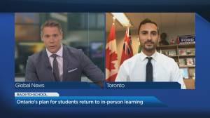 Coronavirus: Ontario education minister breaks down back-to-school