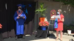 Graduation season in Kingston as class of 2021 rolls with the pandemic punches (02:08)