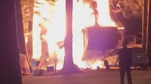 Campers band together to control RV fire (02:04)