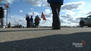 Unifor Workers strike at SaskEnergy Emergency Service Centre