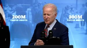 Biden says he spoke to Trudeau about helping procure COVID-19 vaccines, including offering Canada extra supply (01:03)
