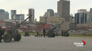 Remembrance Day 2019: 21-gun salute at Vancouver's Portside Park