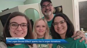 Honouring Logan Boulet on Green Shirt Day