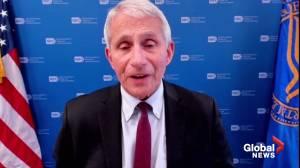 Fauci hopes U.S. regulators fully approve COVID-19 shots by mid-August (03:35)