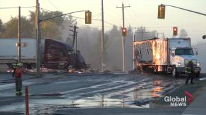 1 dead after transport trucks collided on Hwy. 7 in Havelock: OPP (00:48)