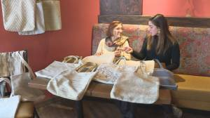 Edmonton restaurant supports senior making handbags for children's education in Turkey