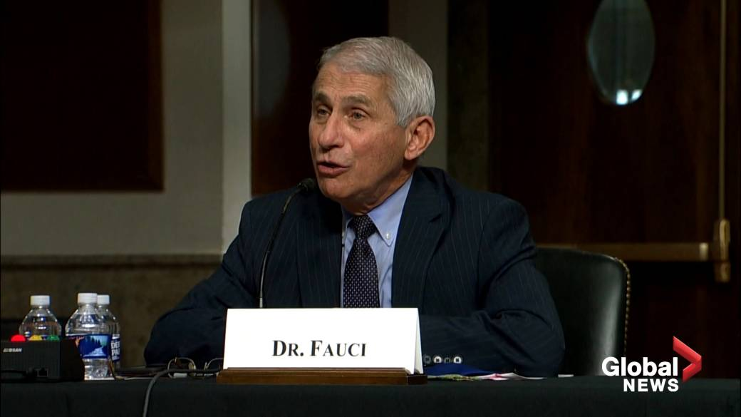 Click to play video 'Coronavirus: Fauci spars with Sen. Rand Paul over New York COVID-19 death rate'