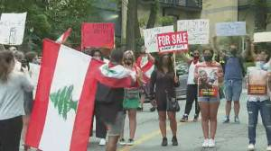 Beirut explosion: Lebanese Montrealers organize anti-government protest outside consulate
