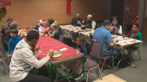 Recent immigrants in Edmonton took part in their first Canadian Christmas celebration